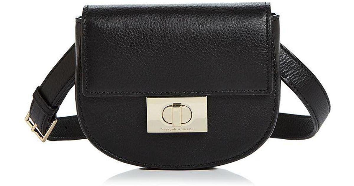 90da872ca5b Lyst - Kate Spade Greenwood Place Rita Leather Belt Bag in Black