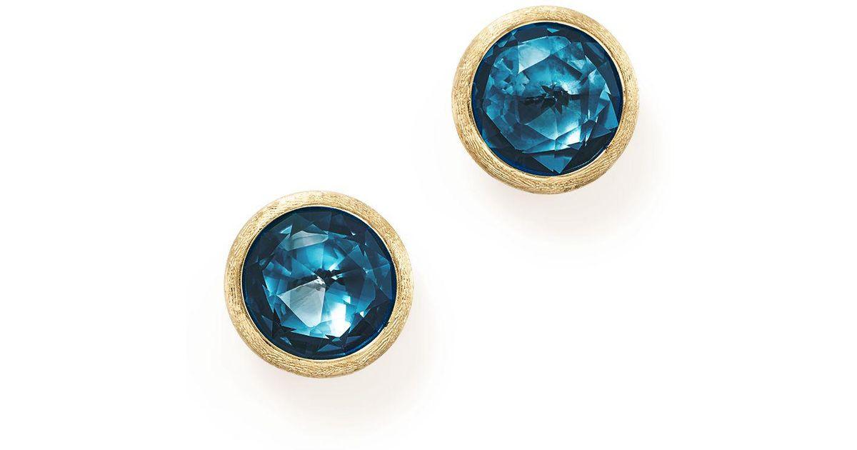 Marco Bicego Jaipur 18K Chalcedony Stud Earrings 8hOrKLtV
