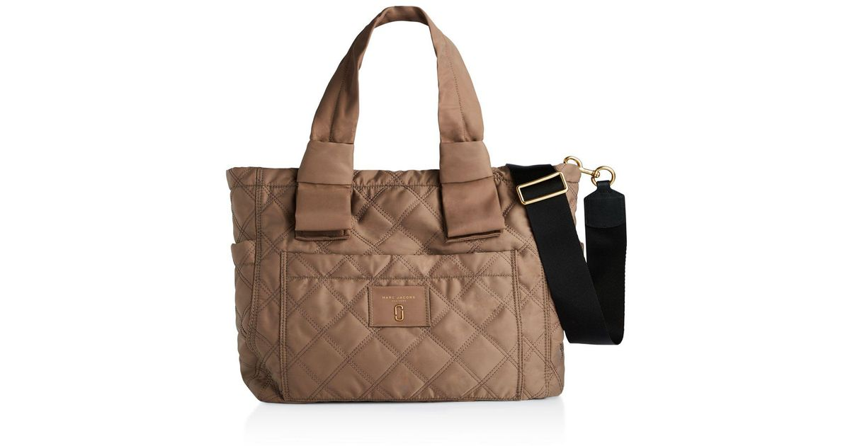 0f3ebf7eb778 Lyst - Marc Jacobs Knot Quilted Nylon Diaper Bag