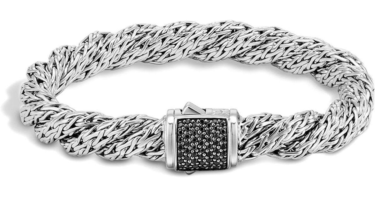 John Hardy Classic Chain Lava Medium Twisted Chain Bracelet 0kliHAa