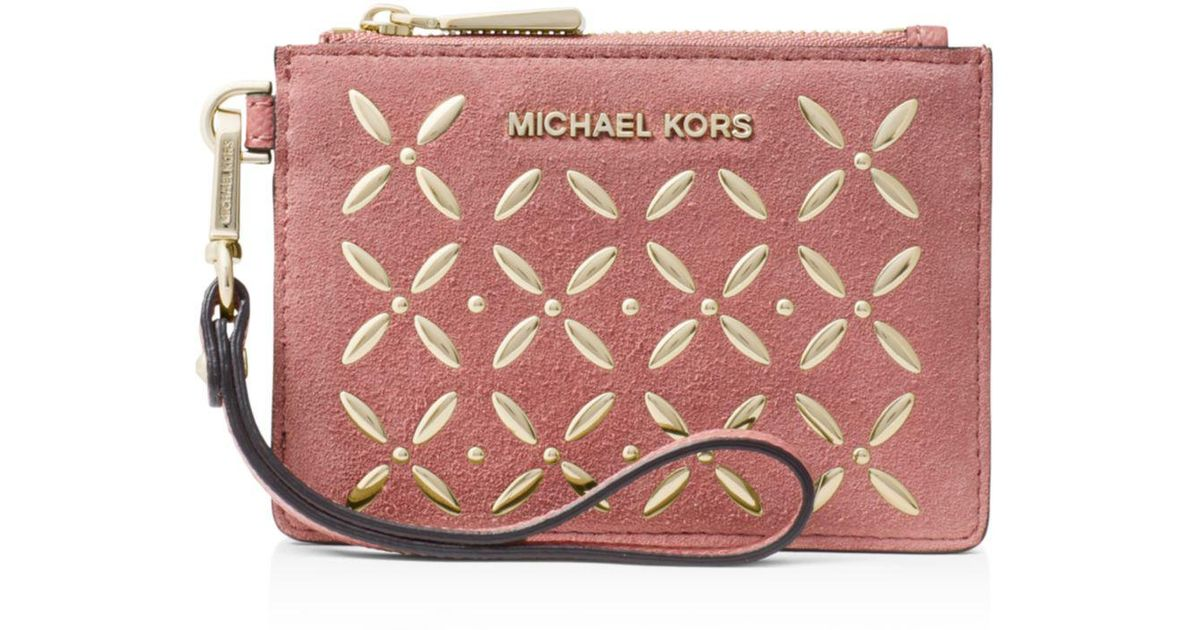 b4542e7f43e9 Lyst Michael Kors Hotfix Small Coin Purse In Pink