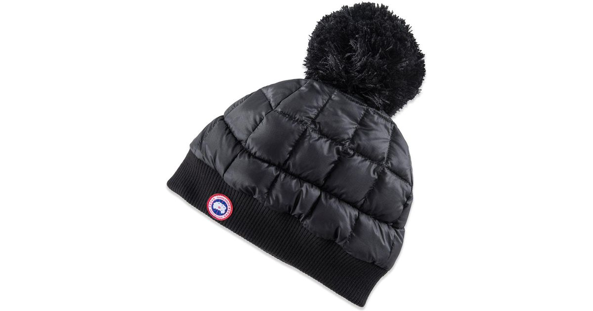 67b11a60d6a Lyst - Canada Goose Down Pom Toque Hat in Black
