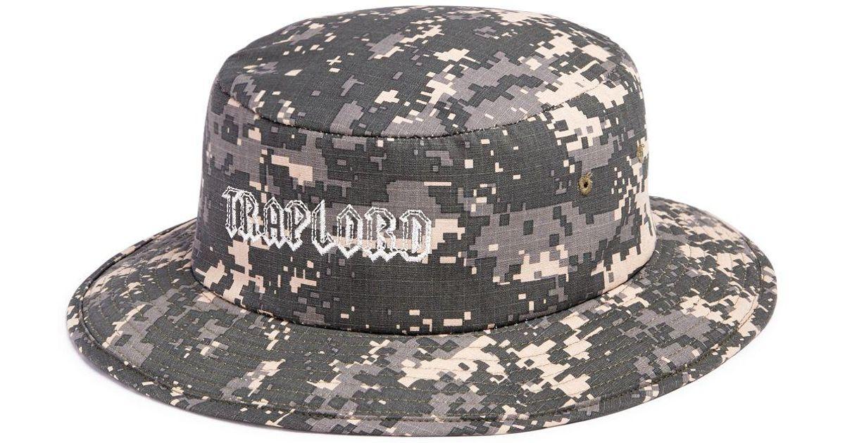 3b632b97c Uniform - Multicolor Uniform A$ap Ferg Traplord Camo Print Bucket Hat for  Men - Lyst