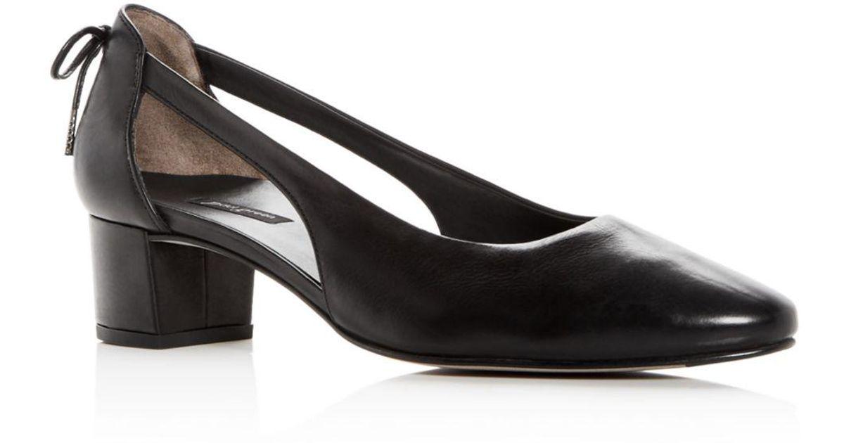 4ead4cc7d3 Paul Green Women's Paulina Leather D'orsay Block Heel Pumps in Black - Lyst