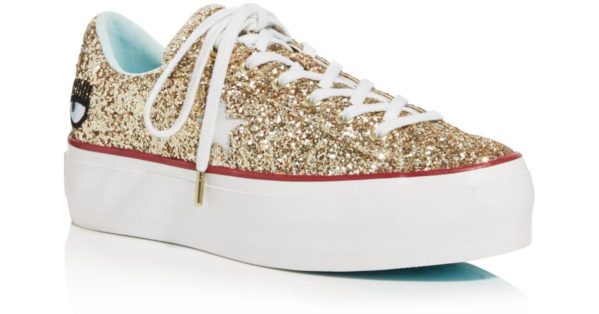 Converse Women's One Star Platform x Chiara Ferragni Glitter Sneakers Extremely Cheap Online High Quality YZLnWznUy