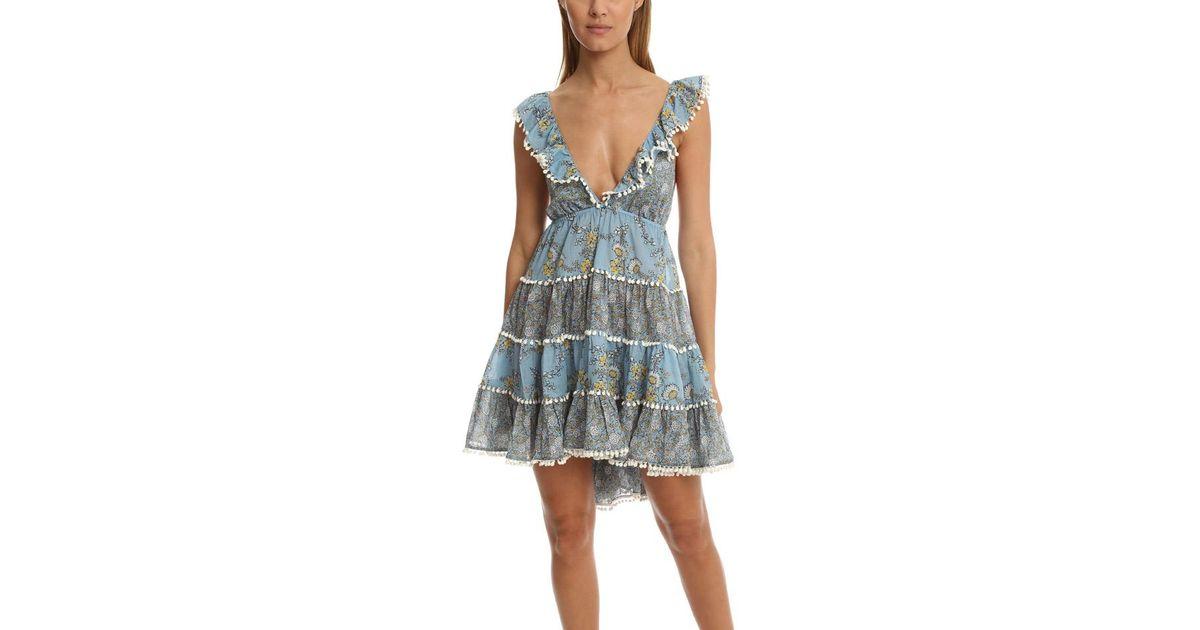 69e1b755865 Lyst - Zimmermann Caravan Tiered Sun Dress in Blue