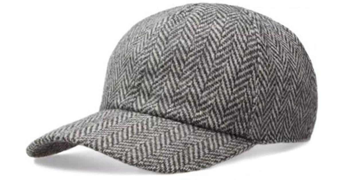 9095b475447 Lyst - Officine Generale Cap Italian Chevron Wool in Gray for Men