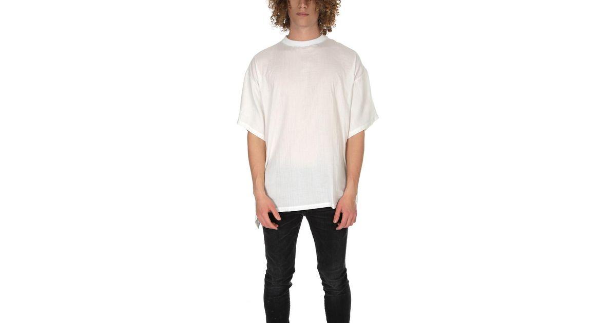 4628c1791045 Longjourney Baggy T Shirt in White for Men - Lyst