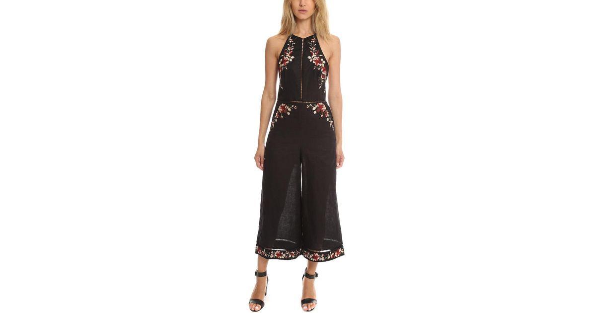 33c931856318 Lyst - Zimmermann Sakura Embroidered Jumpsuit in Black