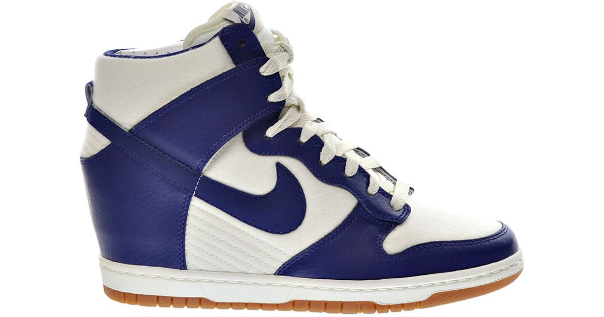 47160af846f Lyst - Nike Dunk Sky Hi High-Top Sneakers in Blue