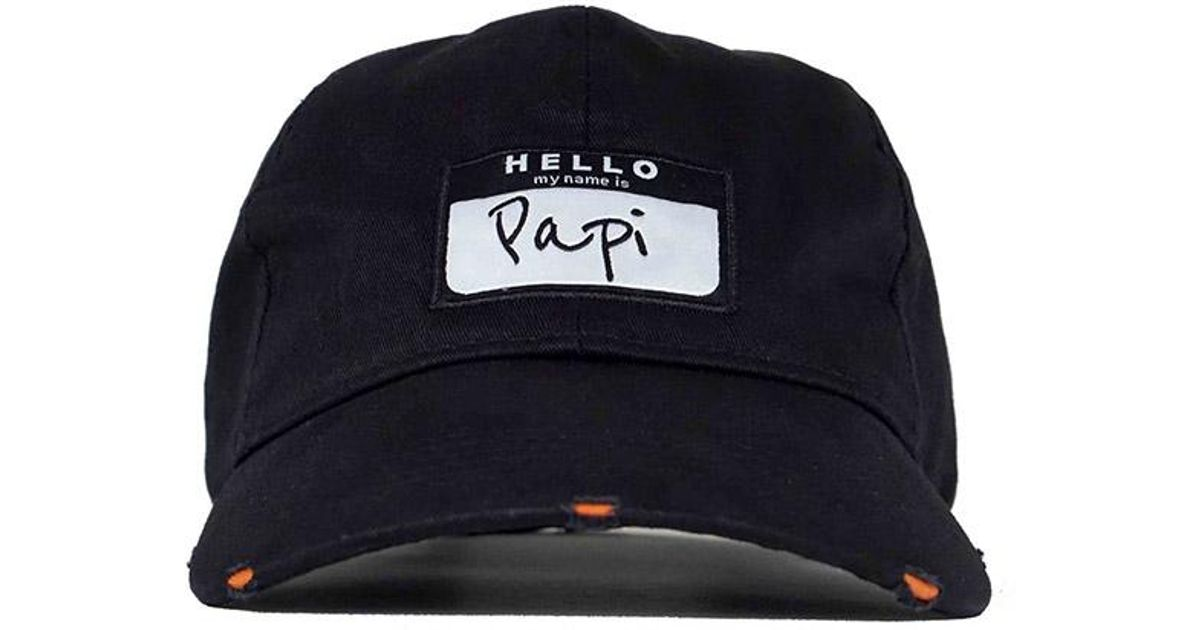 cdf9d7d9a8f Head Crack NYC Papi Dad Hat in Black for Men - Lyst