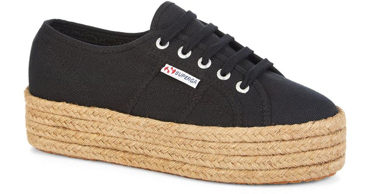 60a56ad001c Superga Shoes 2790 Cotropew Platform Black Rope in Black - Lyst