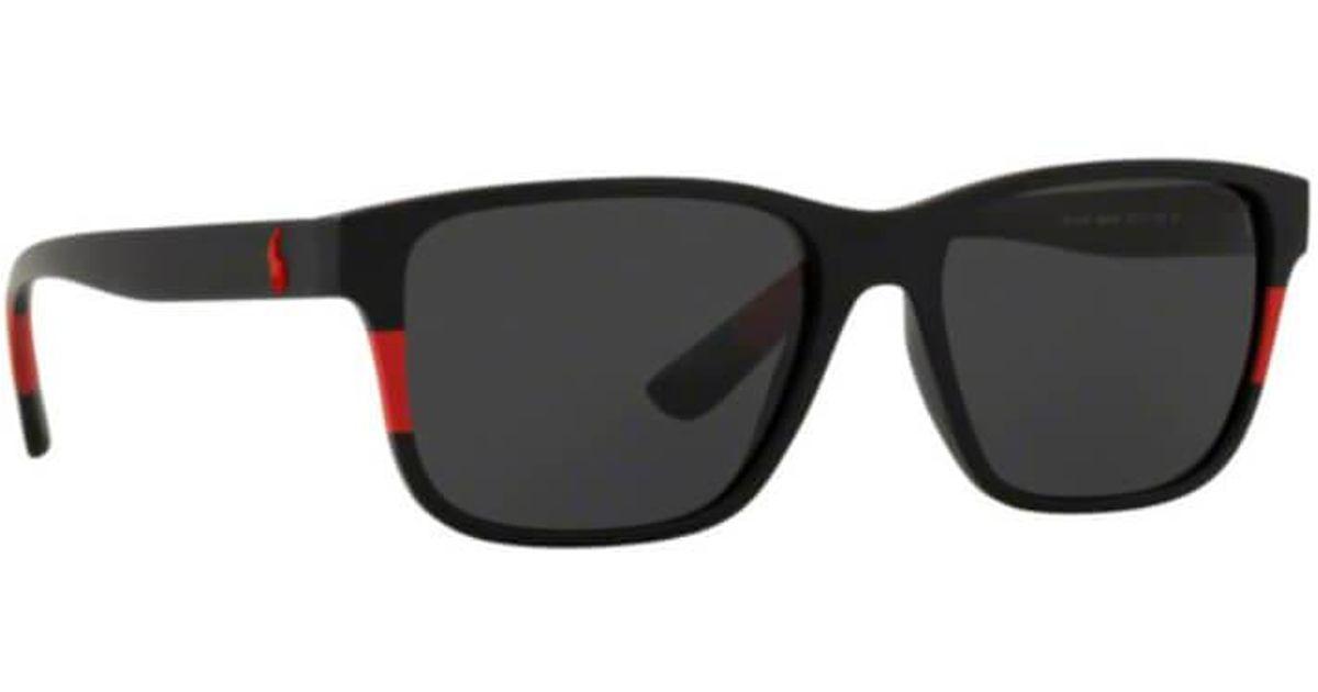 Polo Ralph Lauren Sunglasses Ph4137 528487 57mm in Black for Men - Lyst 0eefd39bce