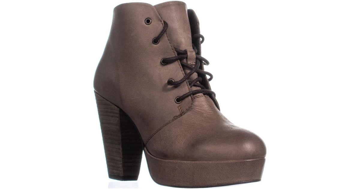 2b4e0cc839e Lyst - Steve Madden Raspy Lace-up Platform Ankle Boots