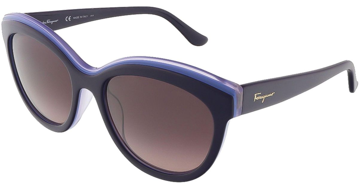 27a311a7c63 Lyst - Ferragamo Sf757s 519 Violet Lilac Butterfly Sunglasses in Blue