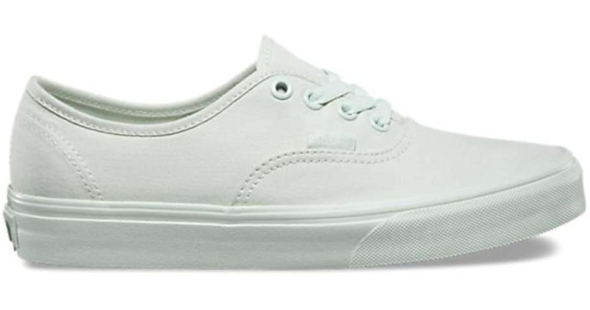 830ad205dac Lyst - Vans Unisex Authentic Canvas Low Top Lace Up Skateboarding Shoes in  Green