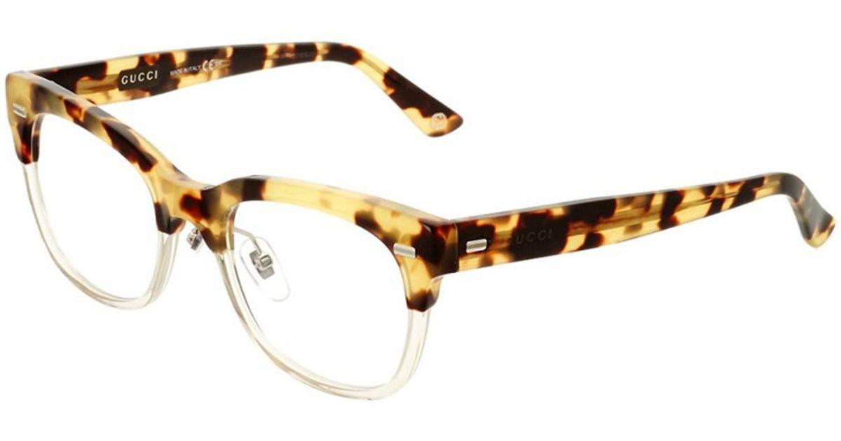 daa3b520a2 Lyst - Gucci Women s Gg3747-1570433mq5020-p4558 50mm Optical Frames in Brown