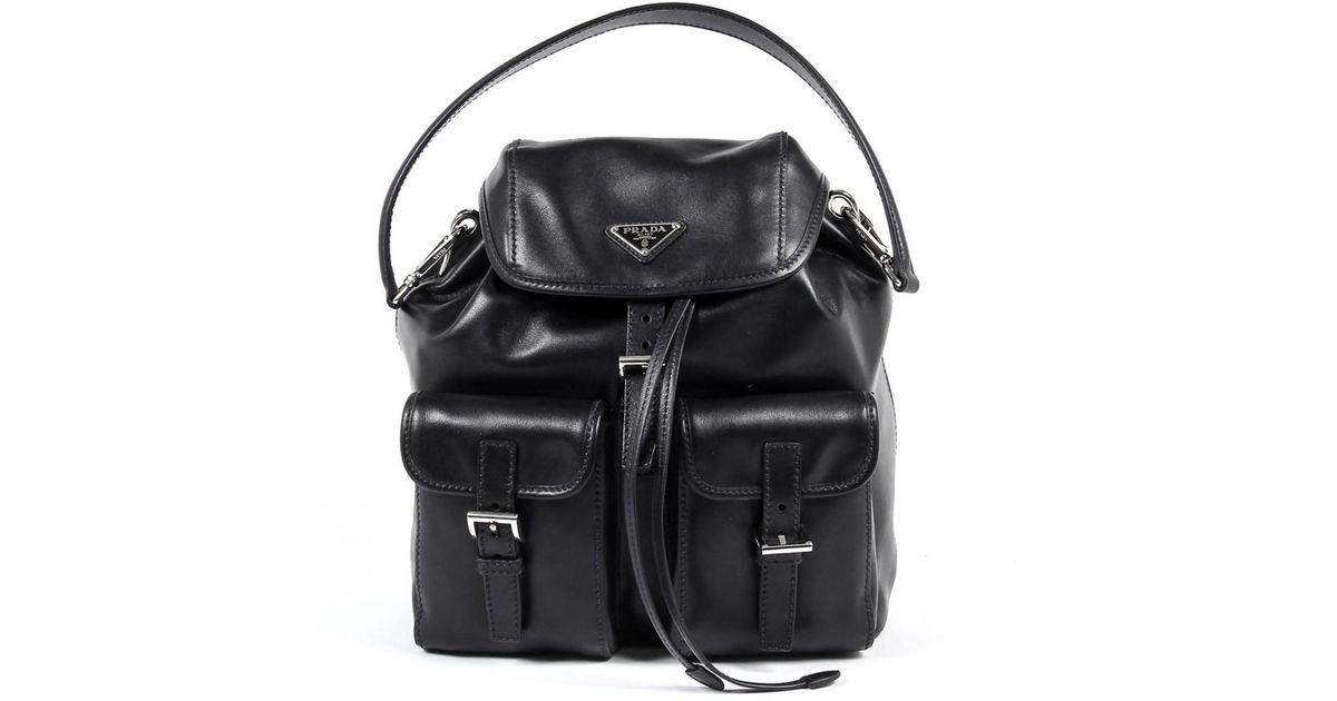 50859b610e09 Prada - Black Womens Handbag Soft Calf Nero - Lyst