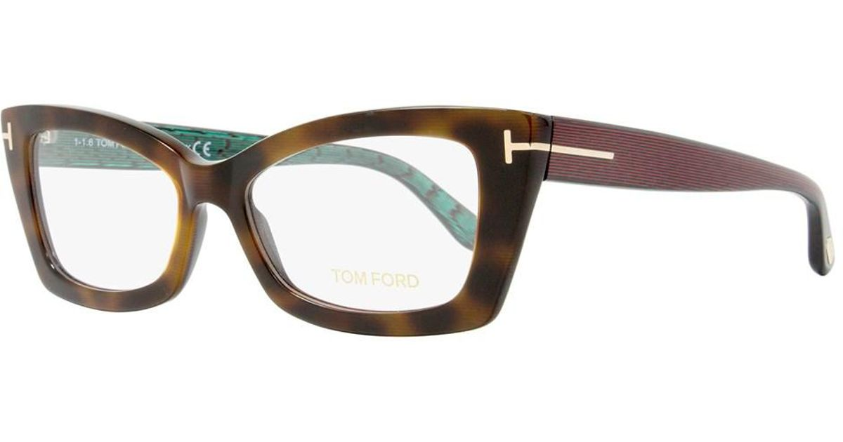 3a39ee159b686 Tom Ford Square Eyeglasses Tf5363 052 Size  53mm Havana iridescent  Chalkstripe Ft5363 in Brown - Lyst