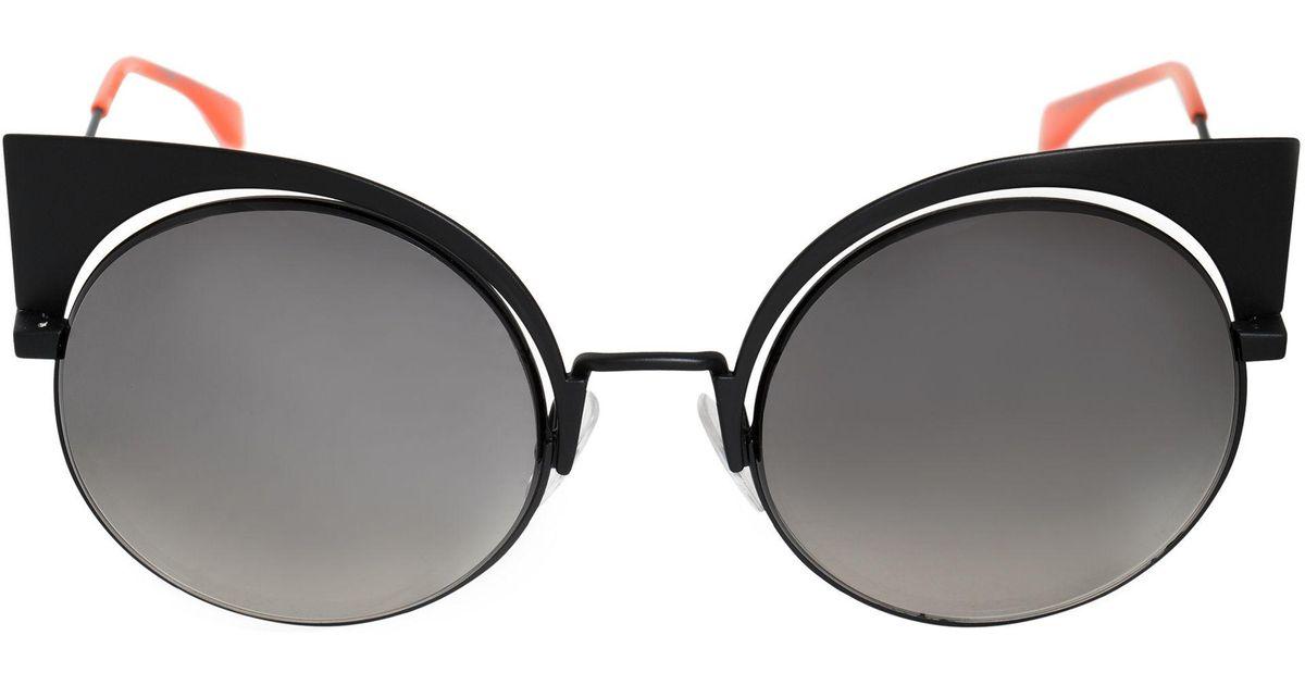 a4c117e77e1 Lyst - Fendi Eyeshine Cat Eye Sunglasses Ff0177s 003 Vk 53