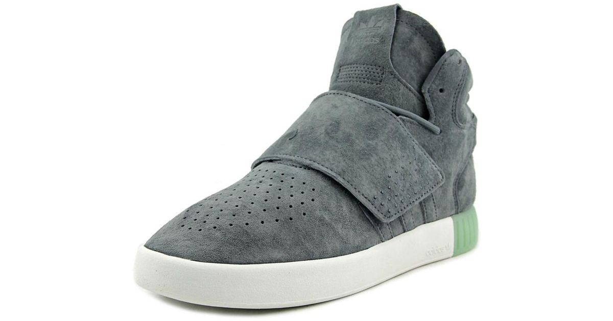 ... lyst adidas tubular invader strap women round toe leather gray sneakers  in gray netherlands sneakers adidas womens fashion tubular invader strap  black ... 26ce7a58d