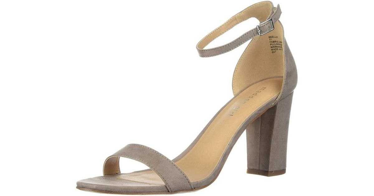 fd5057aaa92 Lyst - Madden Girl Womens Beella Fabric Open Toe Casual Ankle Strap Sandals  in Brown