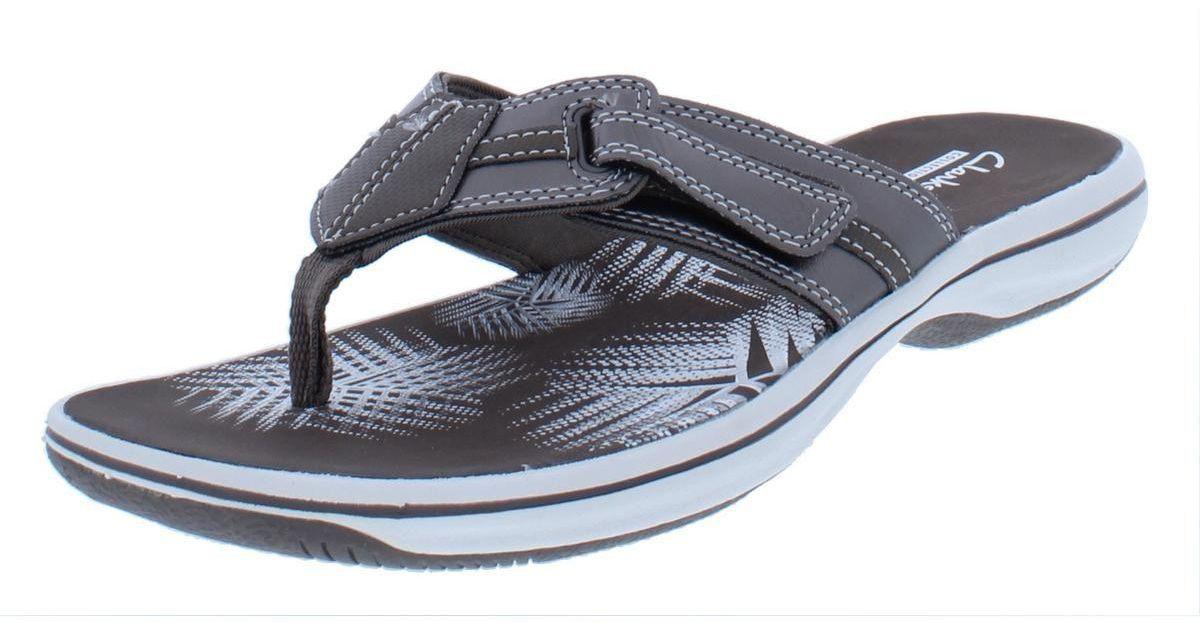89e6e398f5b Lyst - Clarks Womens Brinkley Bree Contrast Trim Summer Sport Sandals in  Blue