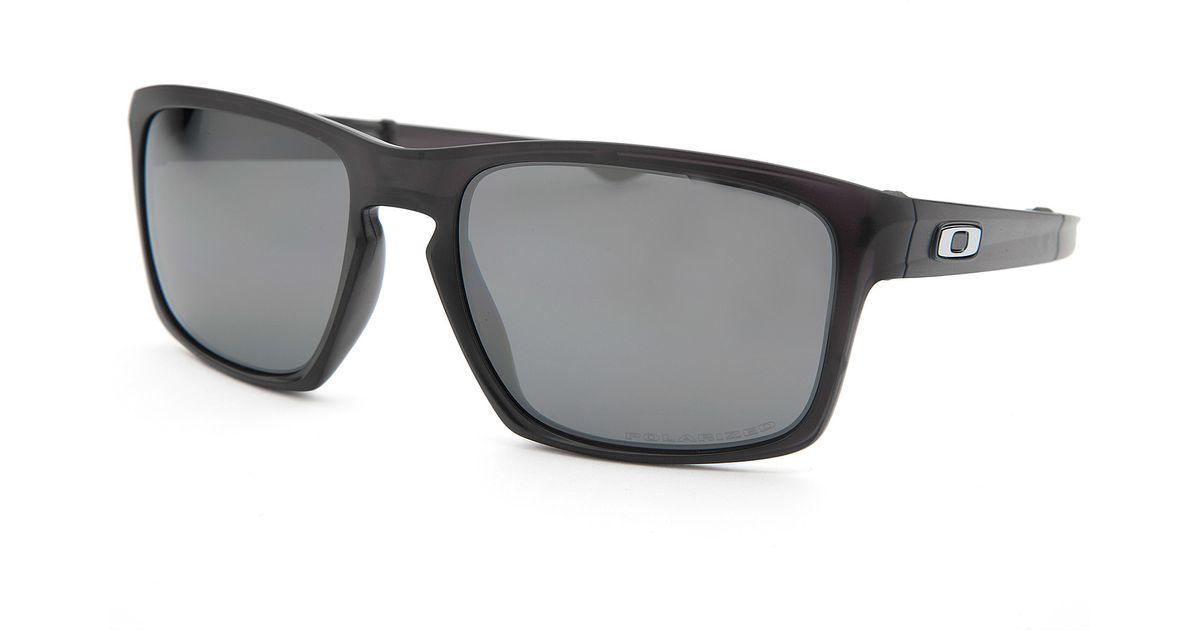 ee2c6203b7f91 Lyst - Oakley Men s Sliver F Square Translucent Black Sunglasses in Black  for Men