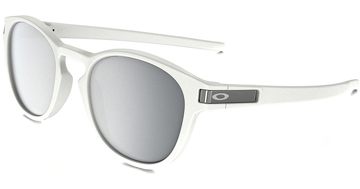 49850cba591 Lyst - Oakley Latch Oo 9265 9265-16 Matte White Sport Plastic Sunglasses in  White