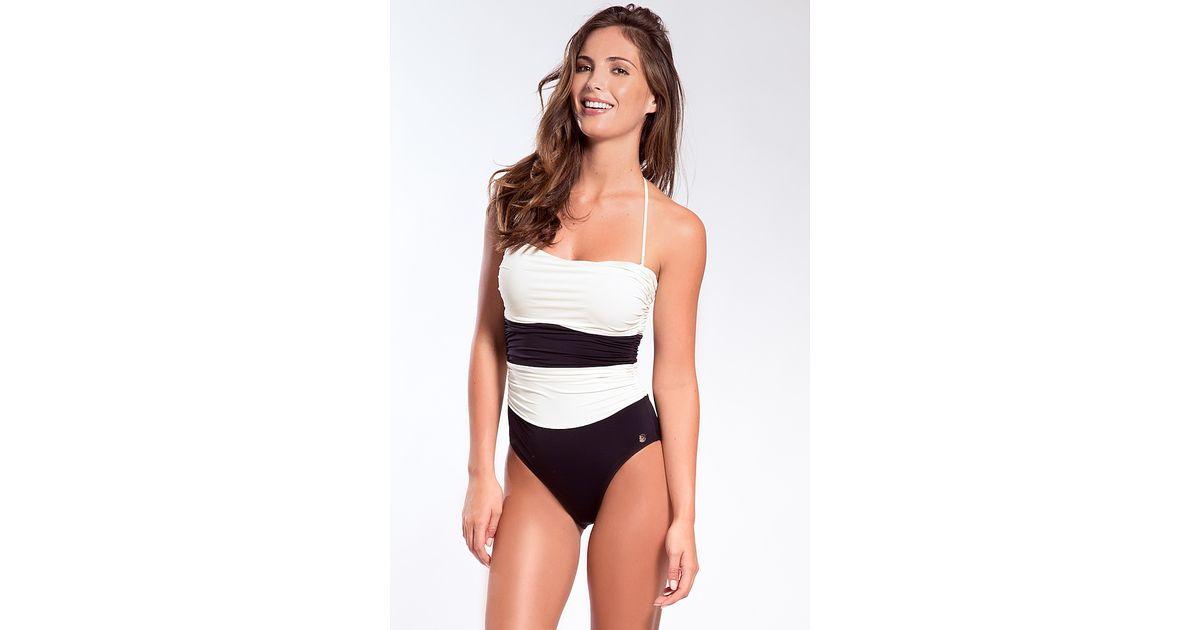 bbdb150946 Lyst - Sauipe Swimwear Nicole One Piece in Black