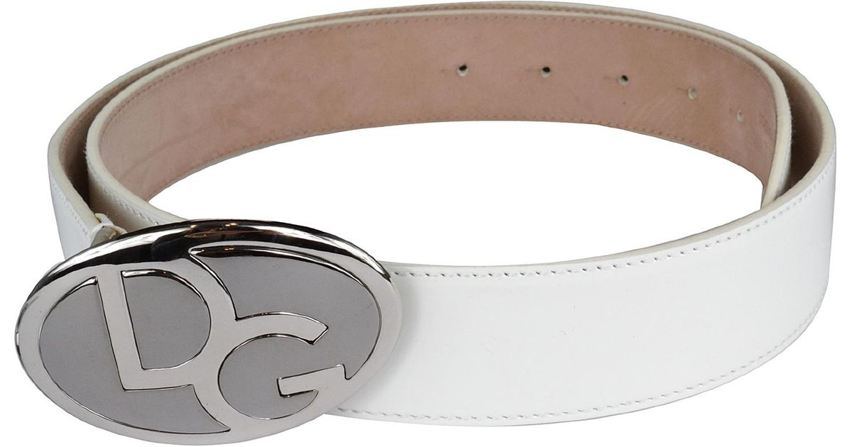 dolce gabbana s patent leather buckle belt in