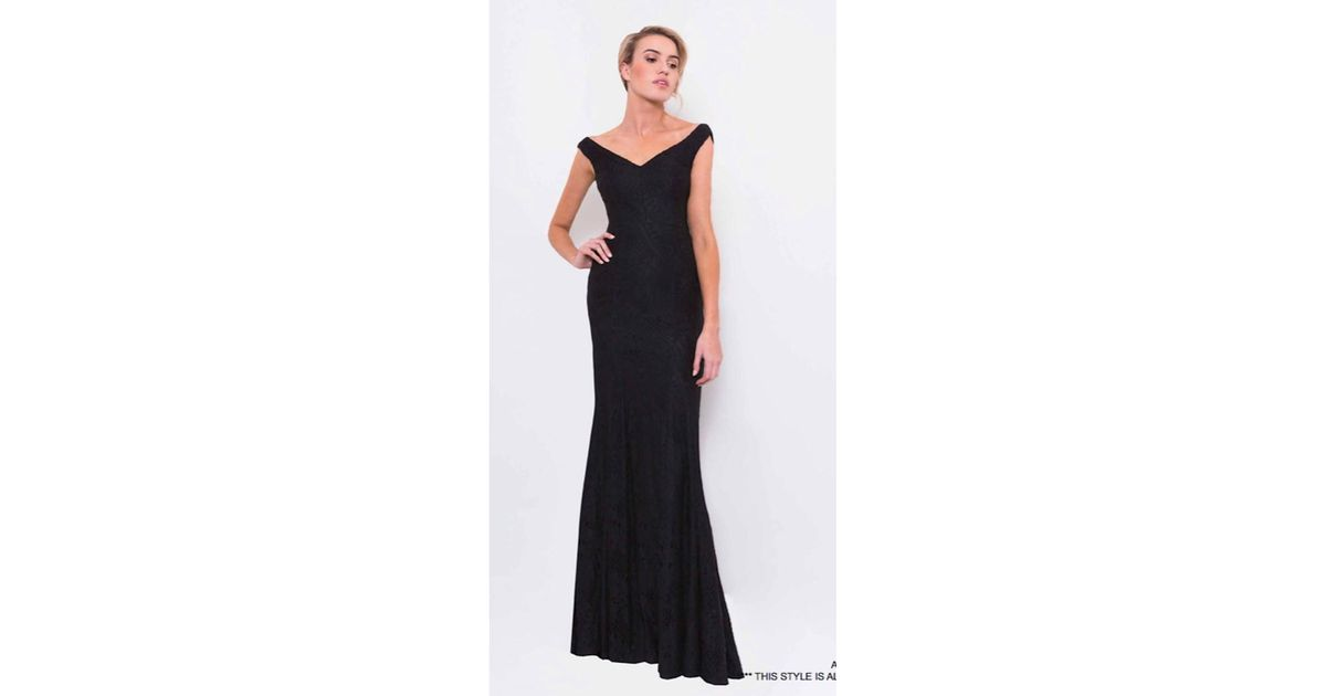 Lyst - Bariano Aura V-neck Lace Gown in Black