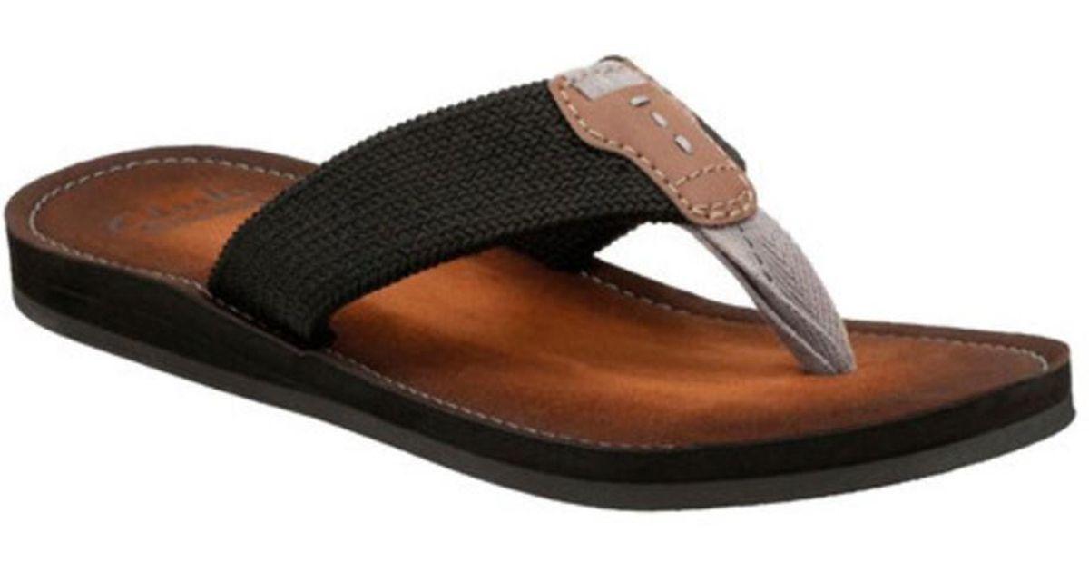 dc400b23d195 Clarks Men s Lacono Beach Thong Sandal in Black for Men - Lyst