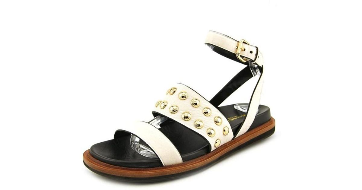c840d6b62a15 Lyst - Coach Dannie Open Toe Leather Sandals in White