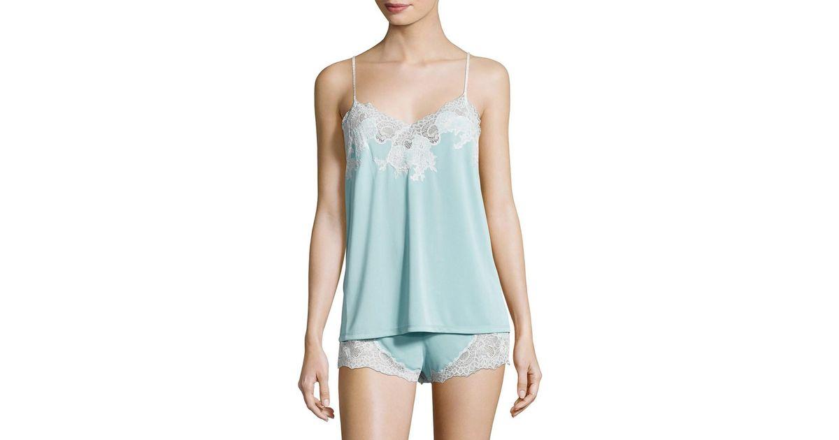 Lyst - Natori Enchant Lace Trimmed Sleepwear Set in Blue 7a48eec6c