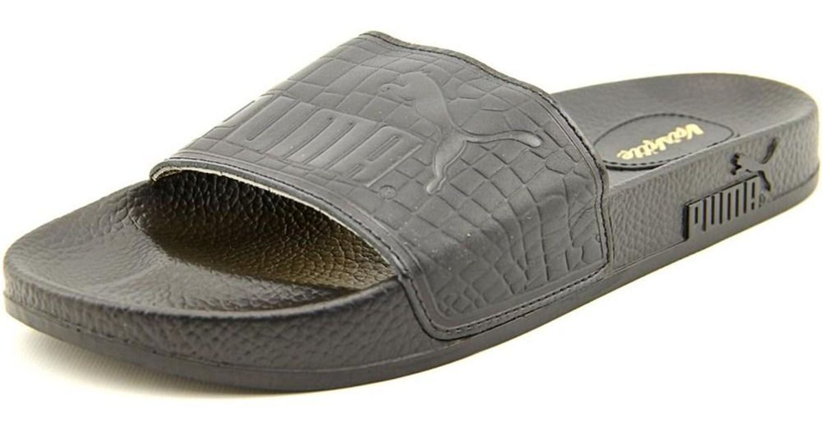 c2ac9c7ac5fd Lyst - Puma Top Slide X Vashtie Men Open Toe Leather Black Slides Sandal in  Black for Men