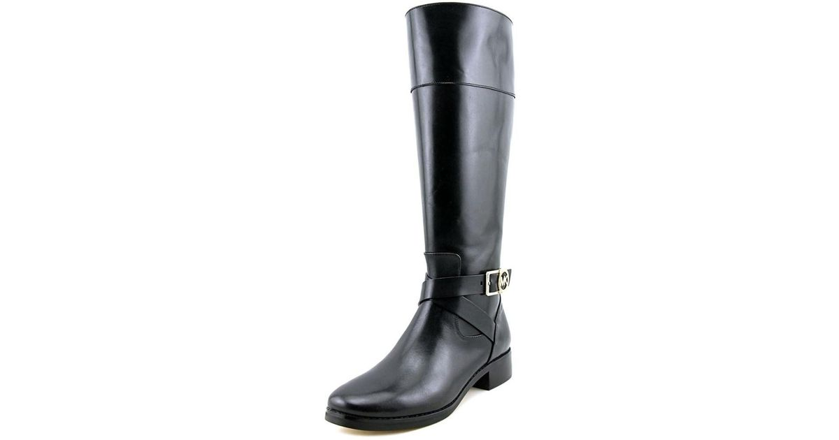 5190949d09b Lyst - Michael michael kors Bryce Tall Boot Wide Calf Women Leather Black  Mid Calf Boot in Black