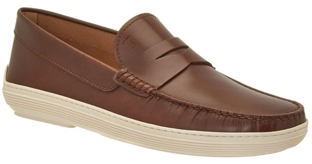 12f411e110e Lyst - Tod S Marlin Hyannisport Leather Moccasin in Brown for Men