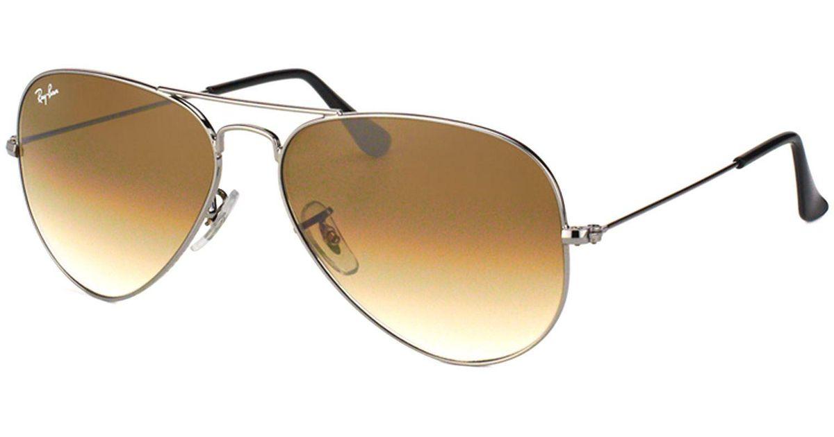 eb8ea8983e05 Lyst - Ray-Ban Classic Aviator Rb 3025 004/51 58mm Gunmetal Aviator  Sunglasses in Metallic