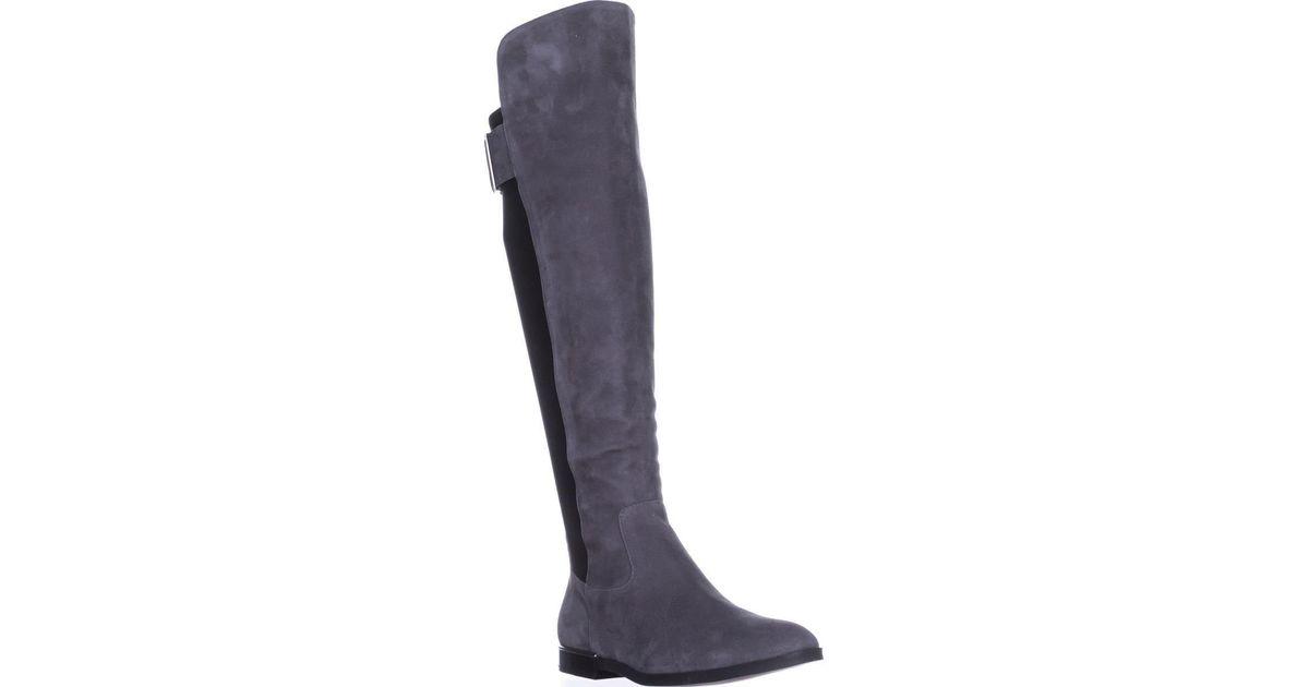 3171651f4e7 Lyst - Calvin Klein Priya Wide Calf Knee-high Boots