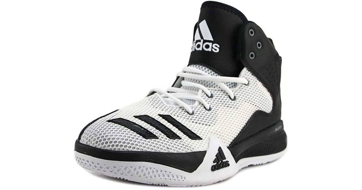 397d123b50fab Lyst - Adidas Dt Bball Mid Round Toe Synthetic Basketball Shoe in White for  Men