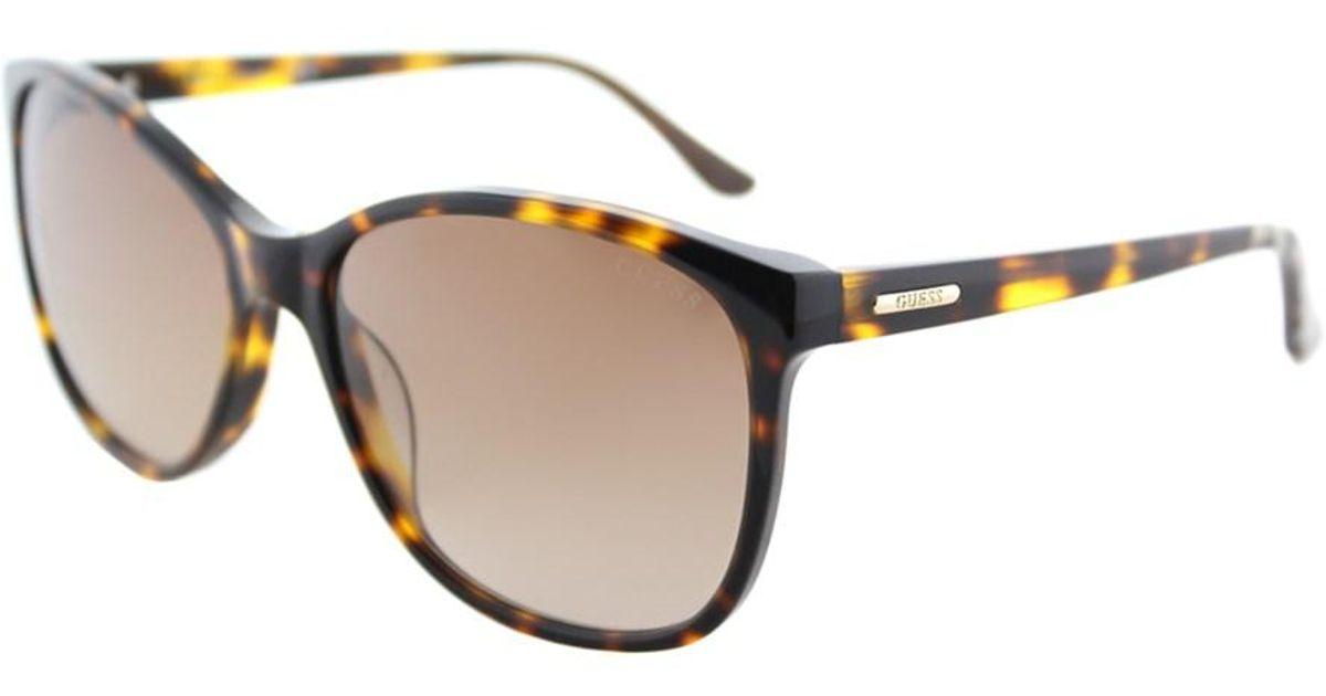 600e6b9a186 Lyst - Guess Gu 7426 52f 58mm Dark Havana Square Cat-eye Sunglasses