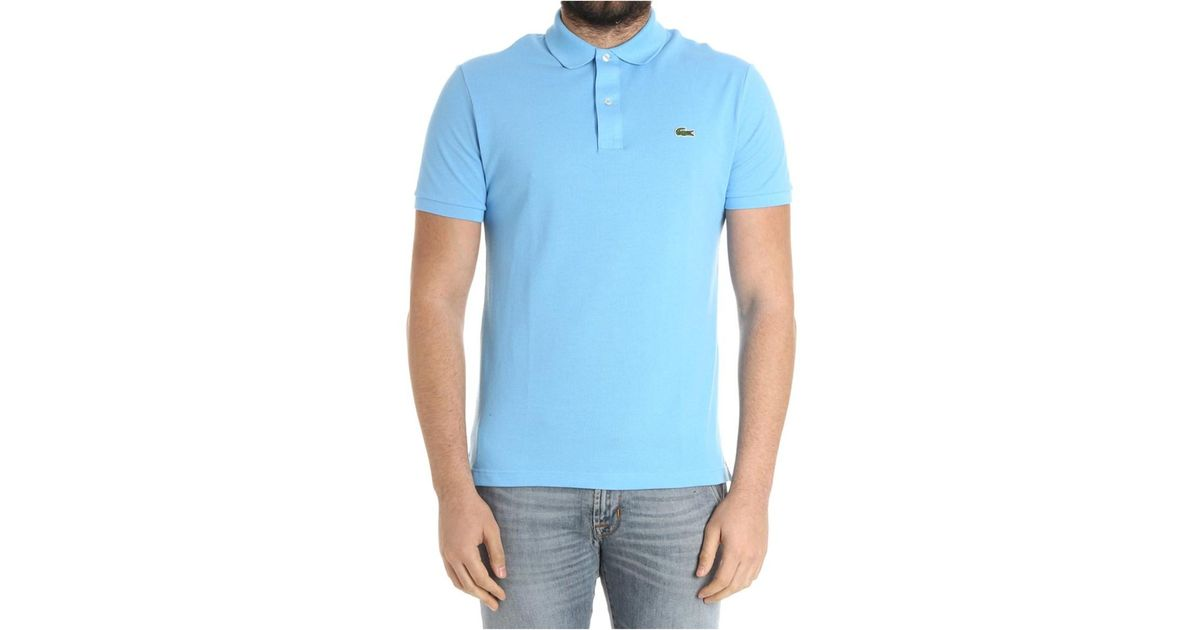 00f7457148b4 ... free shipping lyst lacoste mens light blue cotton polo shirt in blue  for men ea01d 48f9e