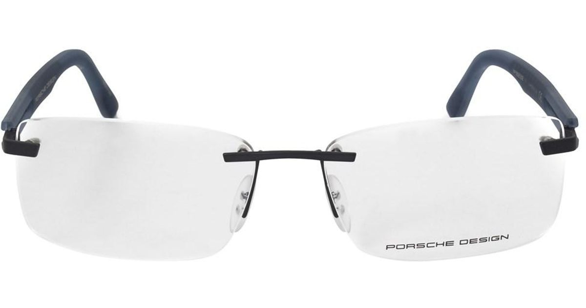 Lyst - Porsche Design P8232 D Rectangular | Matte Silver Blue ...