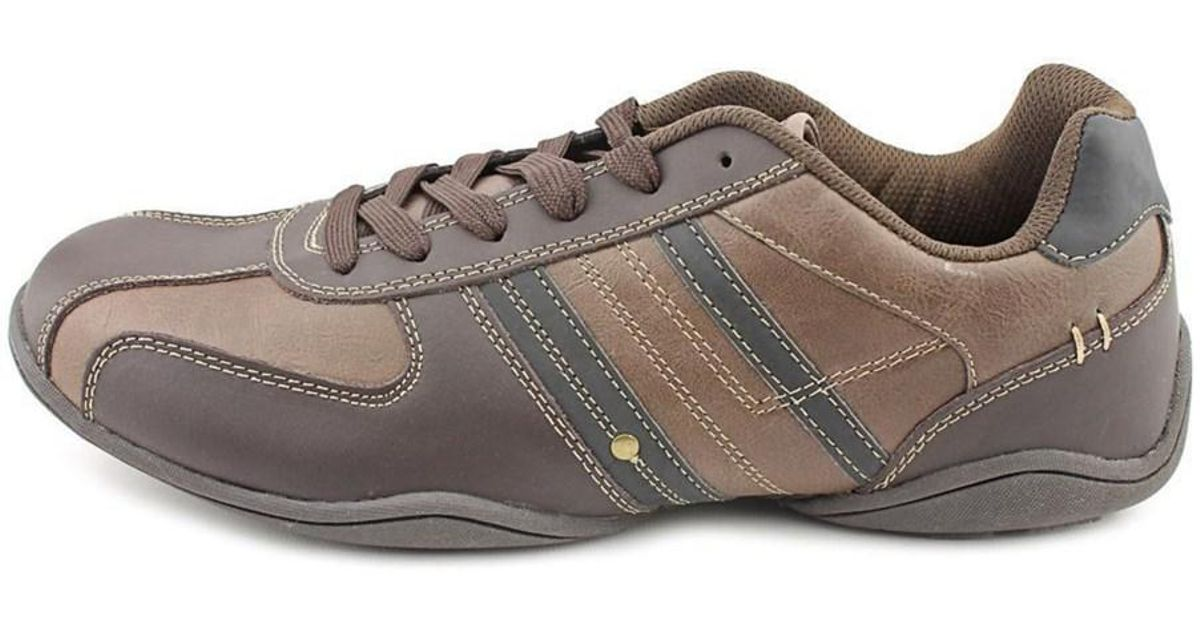 Perry Ellis Native Men Round Toe Leather Brown Sneakers in Brown for Men -  Lyst db4008afc