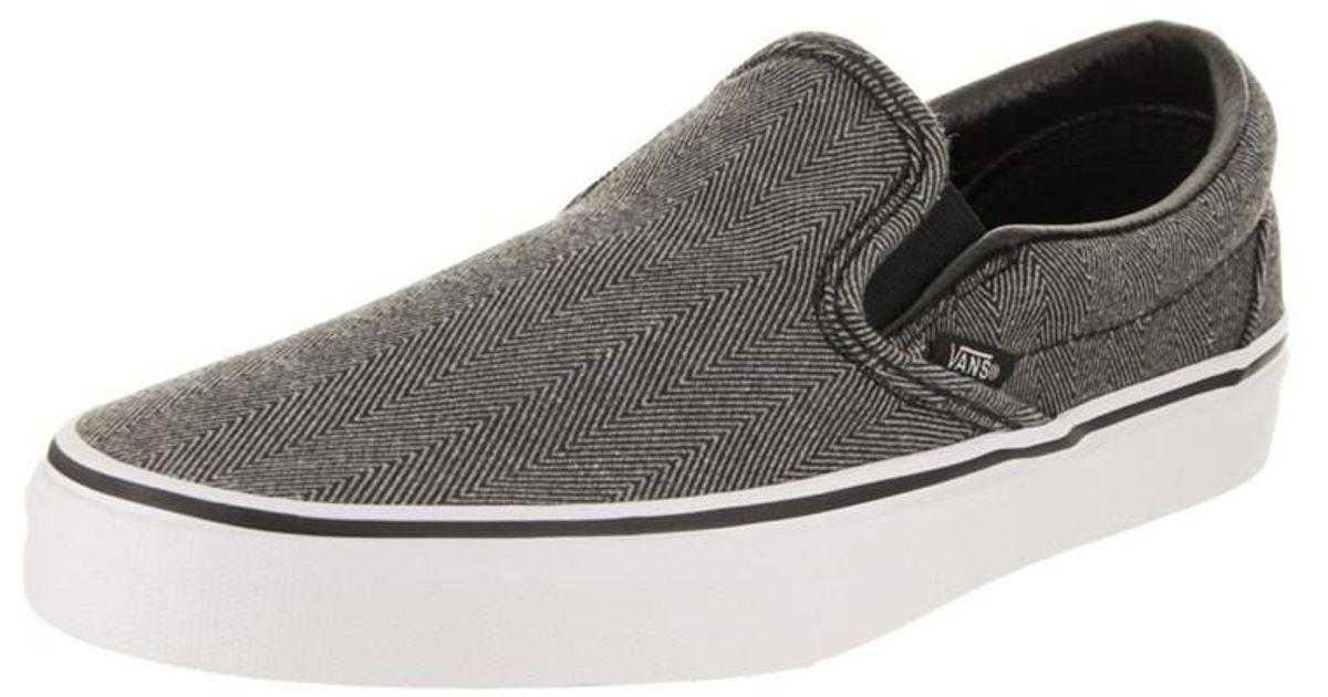 ... Lyst - 0d53fba Vans Unisex Classic Slip-on (oversized Herringbone)  Skate Shoe in ... da3ad93d7