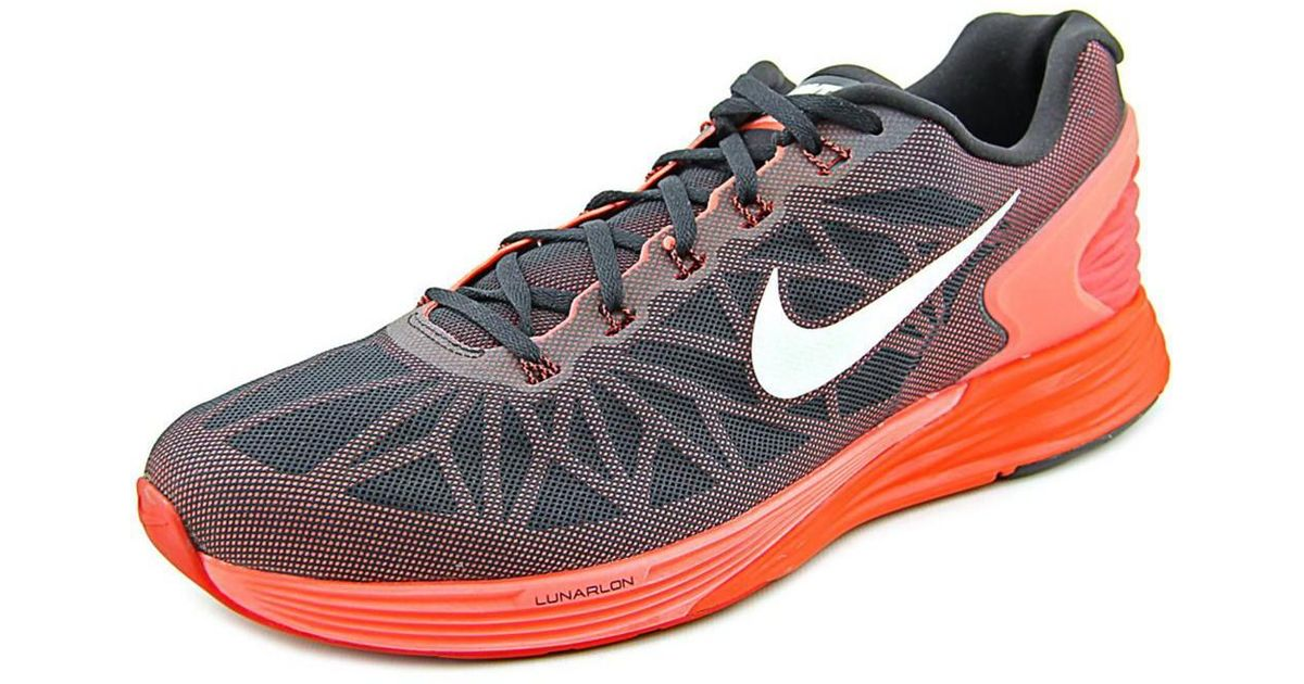 promo code e347f 31889 Lyst - Nike Lunarglide 6 Round Toe Synthetic Running Shoe in Red for Men ...