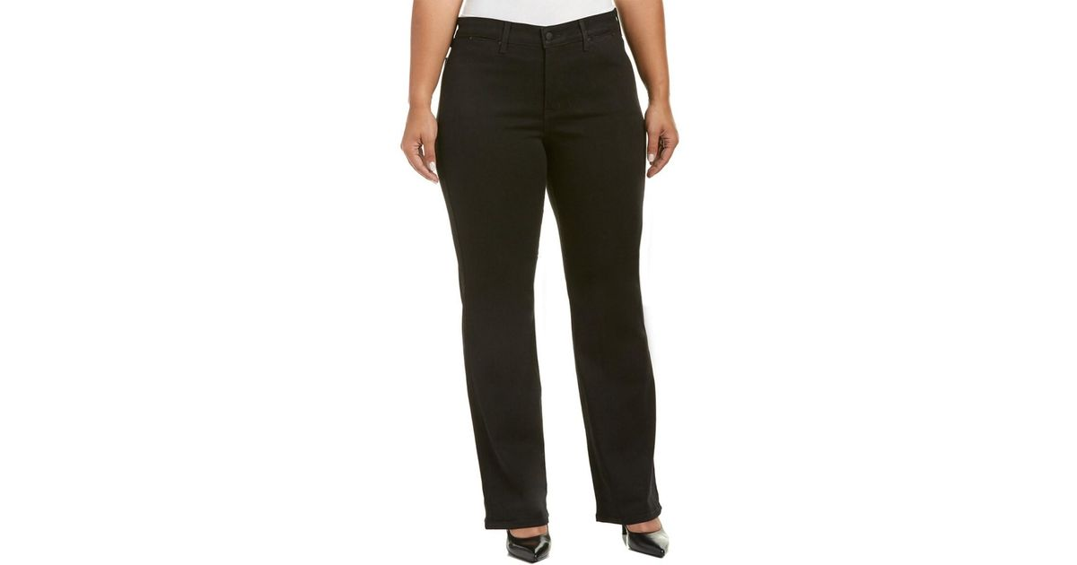 357185fb2663a Lyst - Nydj Plus Isabella Black Trouser in Black