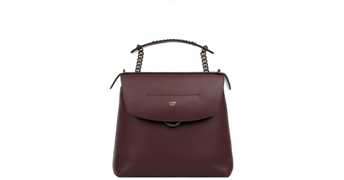 Fendi Women s Burgundy Leather Backpack in Red - Lyst 81fdc8861f4ca