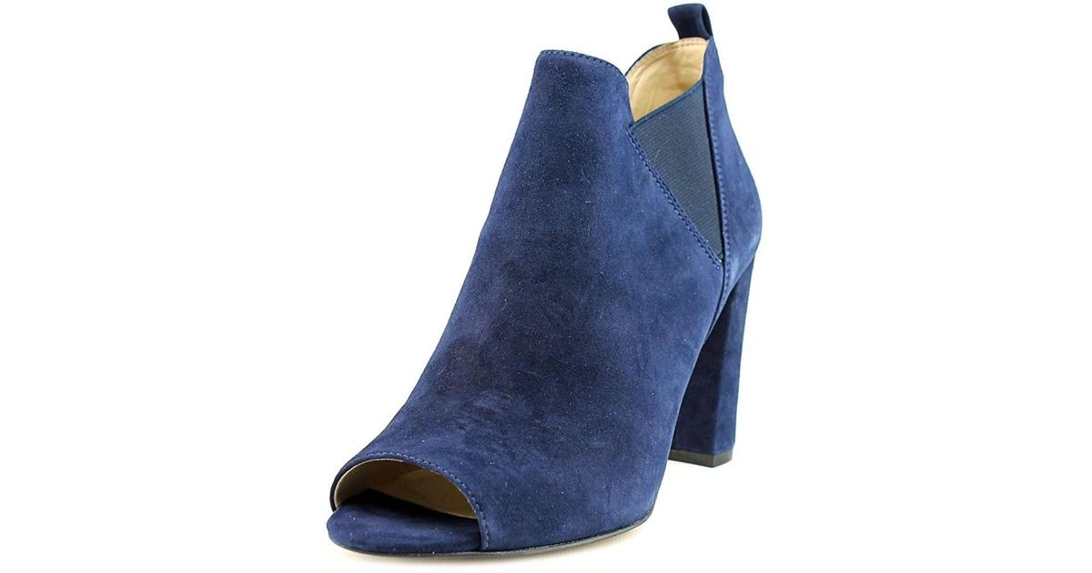 cc5404774ea3 Lyst - Marc Fisher Womens Sayla Suede Open Toe Ankle Fashion Boots in Blue